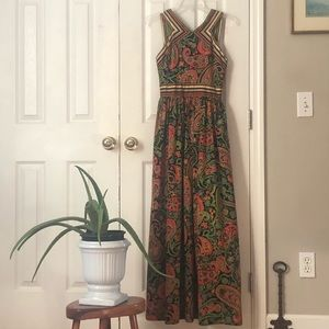 Vintage Dorothy Bullitt Maxi dress with scarf